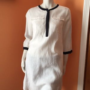 DKNYC linen dress with pockets